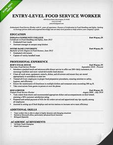 entry level food service worker resume sle download this resume sle to use as a template
