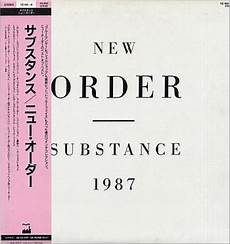 new order substance 1987 obi japanese 2 lp vinyl record