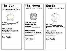 the earth moon and sun worksheets 14414 sun moon and earth cut out foldable by susannahhb tpt