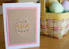 Easter Egg Stitched Greeting Card Make And Takes
