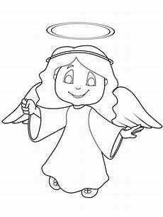 Bilder Engel Malvorlagen Kostenlose Malvorlage Weihnachtsengel Engel Mit