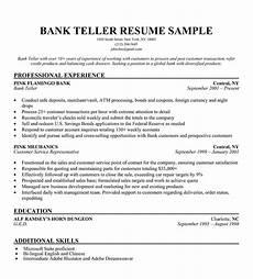 how to write of bank teller resume sle slebusinessresume com slebusinessresume com