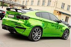 lime green chrome car with carbon finer 3 chrome