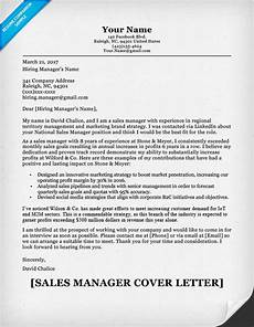 sales manager cover letter sle resume companion