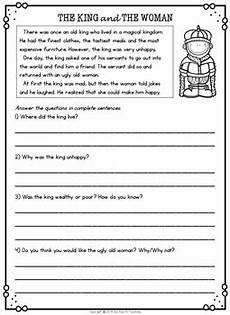 second grade reading comprehension passages and questions tpt