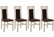 stuhl sonoma eiche stuhl lupus 4er set holzstuhl mit polster braun gestell
