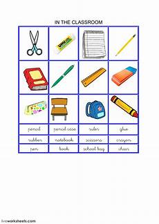 worksheets classroom objects 18220 classroom objects worksheet and pdf