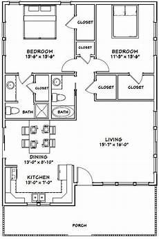 30x40 house plans 30x40 house 2 bedroom 2 bath 1136 sq ft pdf floor etsy