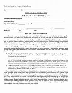 free printable liability form form generic