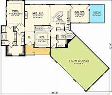 house plans angled garage angled garage home plan 89830ah architectural designs