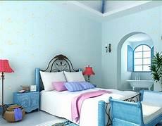 tapete blau schlafzimmer light blue wallpaper for boys and room moon
