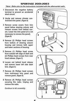 2001 kia sportageinstallation instructions