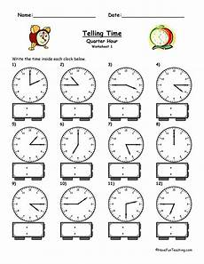 time worksheet quarter and half 3157 telling time to the quarter hour worksheet teaching