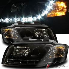 for 2002 2005 audi a4 s4 r8 drl led projector blk headlights head lights pair auctions buy and