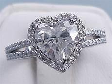 2 13 ctw heart shape diamond wedding ring includes a