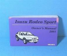 best auto repair manual 2001 isuzu rodeo sport electronic throttle control 01 2001 isuzu rodeo sport owners manual ebay