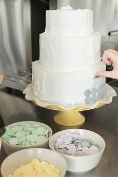 diy wedding cake candy wafer cake