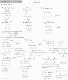50 solve radical equations worksheet in 2020 with images radical equations exponent