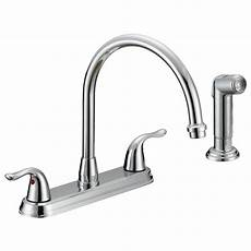 kitchen faucet at home depot ez flo impression collection 2 handle standard kitchen faucet with side sprayer in chrome 10201