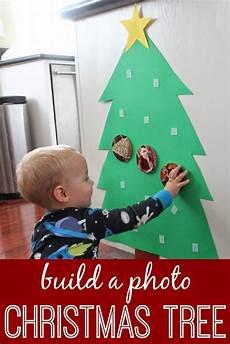 Basteln Kleinkinder Weihnachten - photo tree for babies and toddlers lesson plans