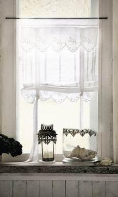 romantische gardinen im landhaus stil lannion 2er set