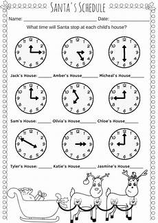 what s the time printable worksheets 3783 santa s schedule time worksheet miniature masterminds