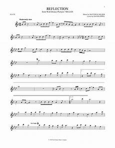 reflection sheet music by christina aguilera flute 168460