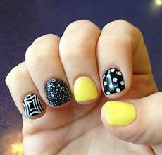 17 best images about black and yellow nails on pinterest