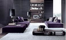 black and purple living room how to decorate with purple in dynamic ways