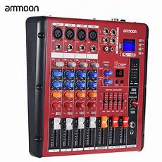 mixer console digital bluetooth 4 channel mic line audio mixer mixing