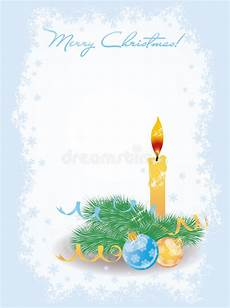 merry christmas invitation card with candle stock vector illustration of postcard burning