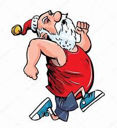 cartoon santa running for exercise stock vector 169 antonbrand 7769601