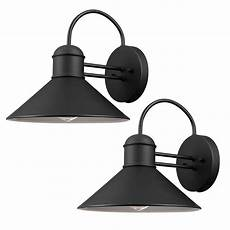 globe electric sebastien 1 light black outdoor wall sconce 2 44165 walmart com