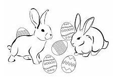 Ausmalbilder Osterhasen Familie Hasen Mit Ostereier Mit Bildern Ostern Osterhase