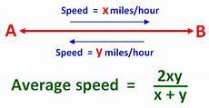 Average Speed Formula