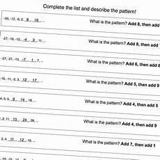 number patterns math worksheets 161 math worksheets multi step number pattern worksheets with negatives math worksheets pattern