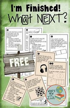 free task cards for early finishers top secondary teachers early finishers activities