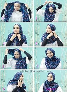 Jilbab Segi Empat Ala Zaskia Sungkar Voal Motif