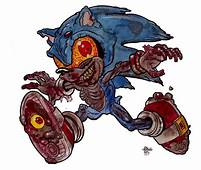 Zombie Art Sonic From The Video Game Characters Of