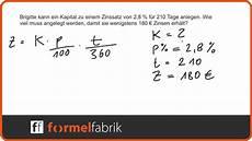 zinsrechnung kapital berechnen textaufgabe nr 4