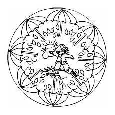 Malvorlage Jahreszeiten Mandala Wetter Mandalas Im Kidsweb De