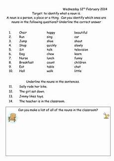 noun worksheet year 1 by joop09 teaching resources tes