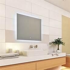 led spiegel touch sensor krollmann moderner led spiegel mit touch sensor 80x60cm