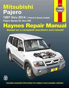 book repair manual 2002 mitsubishi pajero user handbook mitsubishi pajero nl nw repair manual 1997 2014 haynes sagin workshop car manuals repair books