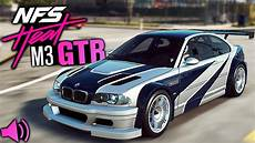 bmw m3 gtr need for speed heat gameplay bmw m3 gtr real sound