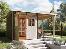 gartenhaus 20 qm karibu locarno 4 set pultdach gartenhaus inkl seitlichem