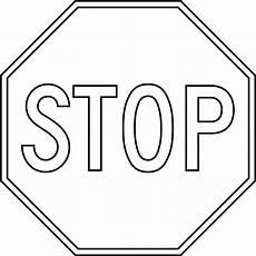 Malvorlagen Verkehrsschilder Word Stop Sign Template Printable Clipart Best