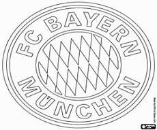 fc bayern munich logo coloring page printable