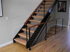 treppe stahl holz nw steel cable wood contemporary staircase
