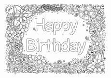 happy birthday ausmalbilder f 252 r erwachsene malvorlagen